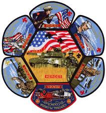 Central Florida Council Heroes Military CSP JSP Patch Badge Set BSA Lot FOS