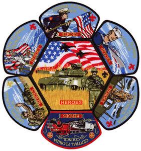 Central Florida Council Heroes Military CSP JSP Patch Badge Set BSA Lot Jamboree