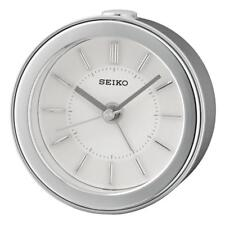 Seiko QHE156S High Quality Beep Alarm Clock with LED Flashing Alarm - Silver