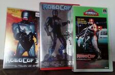 VHS FILM Fantascienza ROBOCOP trilogia columbia pictures no dvd(VHS1)