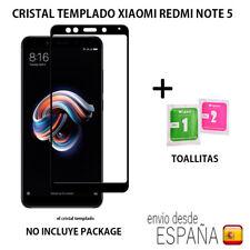 Cristal templado 5D curvo NEGRO protector pantalla para Xiaomi Redmi Note 5.Ordi