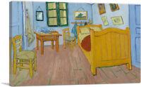 ARTCANVAS The Bedroom 1888 Canvas Art Print by Vincent Van Gogh