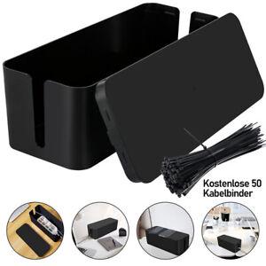 Kabelbox Kabelkasten Stecker M/L Kabel Box Kabelbinder Kabelmanagement