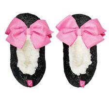 994b71331181 NWT Nickelodeon JoJo Siwa Babba Black With Pink Bow Slippers Shoe Sizes 8-4