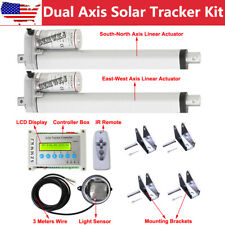 "Electric Dual Axis Solar Tracking Tracker +10"" Linear Actuators +Lcd Controller"