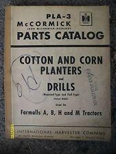 Vintage 1950? McCormick-Deering IH Farmall Cotton Corn Planters Drills Manual