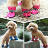4Pcs Dog Snow Boots Puppy Anti-slip Booties Winter Shoes Sneakers Pet Supplies