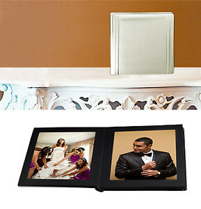 Leather Album Designs CP811055825B Matted 5X5 Ivory Faux Leather 25Pg - 50 Side
