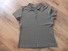 s.OLIVER Polo T-Shirt Gr. 40 Baumwolle kaki grün sportlich modern
