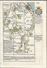 Road from London to Yarmouth, comm at Colchester (2), Ogilby / Bowen. E, 1736