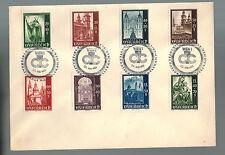 1953 Vienna Austria Messe Cover Complete Set # B252-B259