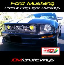 05-09 Mustang Yellow Fog Light Overlays DRL EURO EDM JDM Tint Film Vinyl Grille