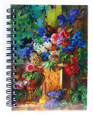 Paper Notebook - 3D Holographic Flowers A6 Size