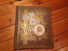 Victorian ScrapBook  with decoupage  Original Antique