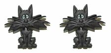 BLACK ALLEY CAT STUD HALLOWEEN EARRINGS (H093)