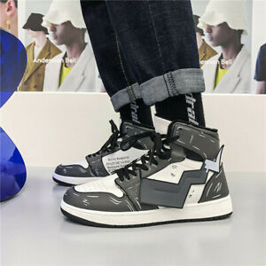 New AF1 Pikachu winter cotton lace fleece Men's shoes hightop sneaker