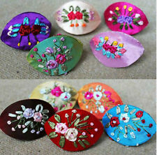 Wholesale10Pcs Chinese Handmade Clasic Embroidered Silk Jewelry Boxes Gift box