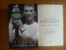 MATTHEW PINSENT A Lifetime in a Race Olympic Gold Medal Rower SIGNED 1st ED HBDJ
