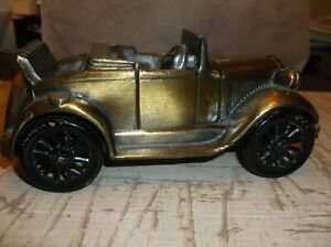 Collectable AUTO Theme METAL BANK  1929 FORD Roadster/Bronze Color Metal