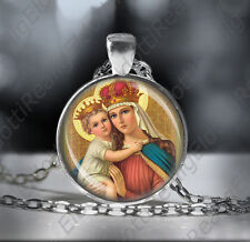 Our Lady of Good Remedy Catholic Necklace Medal Virgin Mary Child Jesus Pendant