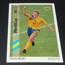TOMAS BROLIN SVERIGE FOOTBALL CARD UPPER DECK USA 94 PANINI 1994 WM94