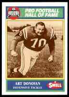 1990 Hall of Fame Green #62 Art Donovan HOF RARE Baltimore Colts  Boston College