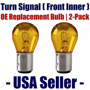 Front Turn Signal/Blinker Light Bulb 2pk - Fits Listed Dodge Vehicles - 2057A
