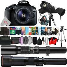 Canon EOS 2000D 24.1MP DSLR Camera + 18-55mm, 500mm & 650-1300mm Bundle