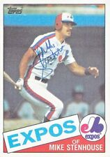 1985 Topps #658 Mike Stenhouse Autograph - Signed  Expos