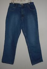 NATURAL REFLECTIONS flannel lined blue denim jeans sz 16 Regular FABULOUS COND!