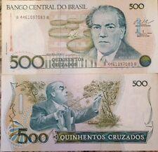 BRAZIL 1986 500 CRUZADOS UNC BANKNOTE P-212 CONDUCTOR VILLA LOBOS USA SELLER !!!
