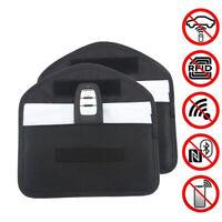 2x Car Key Keyless Entry Fob Signal Blocker Wallet Faraday Bag Pouch Case Large