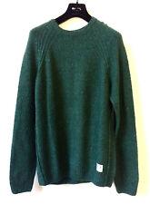 PEPE JEANS  Herren Grün Pullover Rundhals Strickpulli Wollmischung XL Sweatshirt