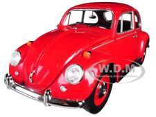 1967 VOLKSWAGEN BEETLE RIGHT HAND DRIVE RED 1/18 DIECAST CAR BY GREENLIGHT 13511