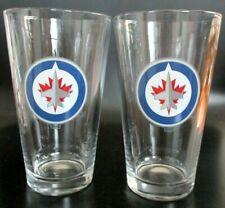 Winnipeg Jets NHL Hockey Beer Pint Glass Set of Two ( 2 )