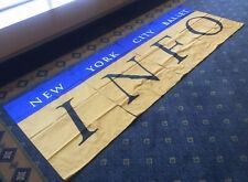 "Vintage 1980s NEW YORK CITY BALLET Info 4pc SATIN BANNER State Theater 114""x 40"""