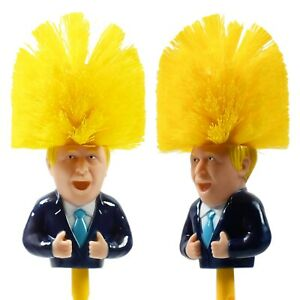 Boris Johnson Toilet Brush,Satire,Novelty Gift, Secret Santa Brush SEE VIDEO