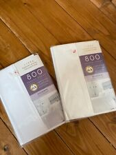 Pair Luxury Hotel Collection 800 thread count white pillowcases bnwt