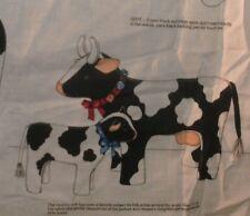 1 Yd VTG Cranston Quilt Fabric Panel Til the Cows Come Home Soft Sculpture Calf