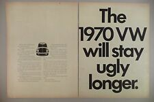 Volkswagen VW Bug Beetle Double-Page PRINT AD - 1969