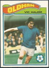TOPPS 1978 FOOTBALLERS #111-OLDHAM ATHLETIC-VIC HALOM