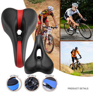 Comfort Breathable Bike Saddle Bicycle Cycling Seat Men&Women Wide Cushion Pad