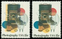 1758, 15¢ Photography Stamp With Color Shift Error & Normal Too! * Stuart Katz