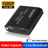 1080p 60fps HDMI Video Digtal Capture Card Recorder for Streaming Meeting Game