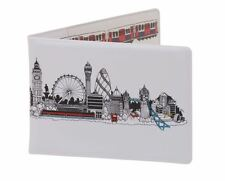 London Skyline Travel Wallet White Oyster Card Holder London Underground