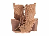 Women/'s SUGAR KACY Gray Zip//Lace Up Peep Toe Dress Shoes//Booties NEW