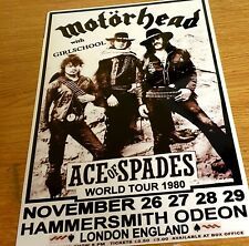 MOTORHEAD- ACE OF SPADES HAMMERSMITH WORLD TOUR 1980 8X12  METAL SIGN