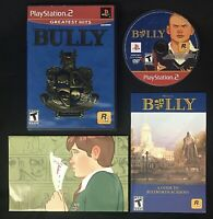Bully Greatest Hits Sony Playstation 2 Game PS2 CIB TESTED COMPLETE With Poster
