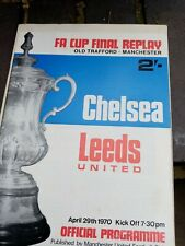 More details for fa cup final replay chelsea v leeds united @old trafford 29/4/1970 nr mint cond
