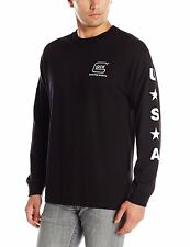 Glock Men's Shooting Sports Long Sleeve T-Shirt Black 100% Cotton Size Medium